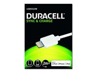 Duracell Sync Charge CBLLightning 2M WHT